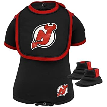 4f5633235cc88 Amazon.com: Reebok New Jersey Devils Infant Black 3-Piece Creeper ...