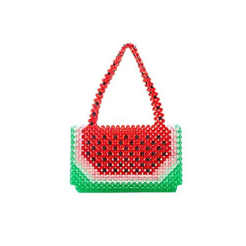 (pearls bag beaded watermelon box totes bag women party handbag 2019 summer bags luxury brand fashion wholesale,small )