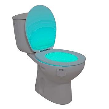Lumière pour WC avec détecteur de mouvement en 8 différentes ...