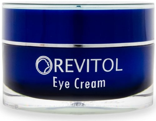 Revitol Eye Cream for Reduced Bags and Dark Circles - New All Natural formula to help alleviate tired, puffy eyes, crows feet, eye wrinkls, and more! Natural ingredients that are fast acting - 3 Jars