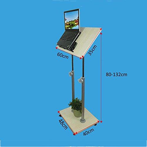 ChuanHan Stand Up Desk Mobile Podio Presentación Atril Altura Ajustable Multi-Propósito Estación de Trabajo Permanente...