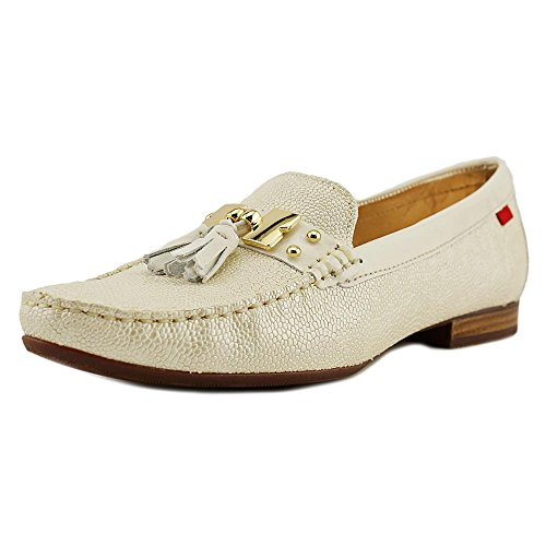 Marc Joseph New York Women's Ivory Pebble Grainy Tassel Loafer 9 M ()