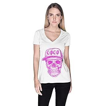 Creo Coco Skullt-Shirt For Women - Xl, White