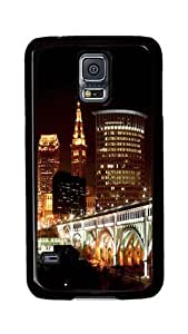 Samsung Galaxy S5 Case, S5 Cases - Downtown Cleveland Ultimate Protection Scratch Proof Soft TPU Rubber Bumper Case for Samsung Galaxy S5 I9600 Black