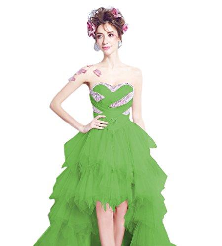 Low Long Women Beach Dress Bridal Wedding Tulle Aurora High Bridal Sweetheart Green 2017 OUBWwXqw6