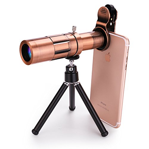 Cell Phone Camera Lens, 20X Zoom Telephoto Lens with Flexible Tripod Universal Clip for iPhone 8/7/6S/6 Plus/5/4,Samsung, Android and Other Phones