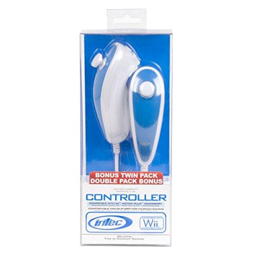 Wii Nunchuck Controller 2 Pack (Renewed)