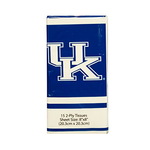 NCAA Pocket Tissues 12 pack, 180 Tissues (Kentucky Wildcats) Kentucky Wildcats Tissue
