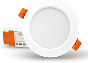 ZigBee 3.0 RGBW 3.5 inch Recessed Retrofit Downlight 12W LED Dimmable Fixture Ceiling Light,Alexa Echo PlusHome Automation/Tuya app control via Tuya Zigbee Hub