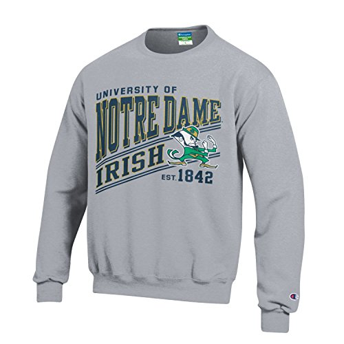 Notre Dame Gear (NCAA Notre Dame Fighting Irish Youth Boys Champion Fleece Crew, X-Large, Gray)