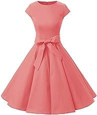 0604c6a1e6 Dressystar Women Vintage 1950s Retro Rockabilly Prom Dresses Cap ...
