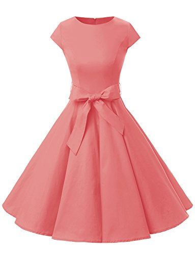Dressystar DS1956 Women Vintage 1950s Retro Rockabilly Prom