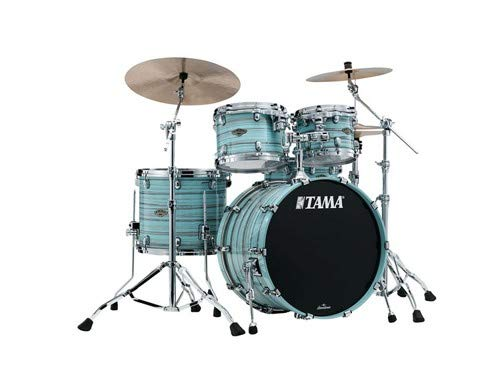 Tama Starclassic Walnut/Birch Lacquer 4-piece Shell Pack - Lacquer Arctic Blue Oyster
