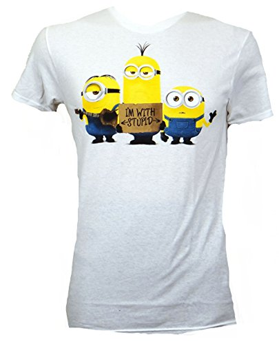 Despicable Me Minions I'm With Stupid T-shirt (Extra Large, -