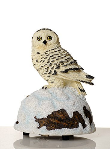 Snow Owl Wildlife Figurine by The San Francisco Music Box Company