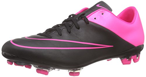 Nike Mercurial Veloce II LTHR FG Mens Football Boots 768808 Soccer Cleats (US 11, Black Hyper Pink 006)