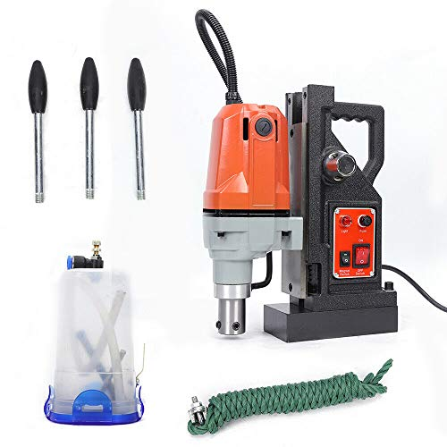 Magnetic Drill Press, 2700 Lbs 1100W with 1-1/2 Inch (40mm) Boring Diameter MD40 Magnetic Drill Press Precision Metal Surface Drilling System Portable