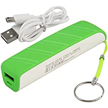 AC Doctor INC 3300mAh External Battery Pack Universal Power Bank Mini Portable Battery Charger with Key Chain for Mobile Cell Phone Smartphones (Green)