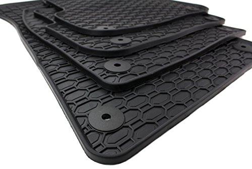 kfzpremiumteile24 Gummimatten Original Qualitä t Fuß matten Gummi schwarz 4-teilig