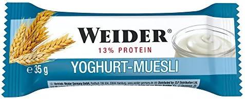 Weider - BodyShaper Protein Plus Energy - Riegel 24er Box Yoghurt-Müsli