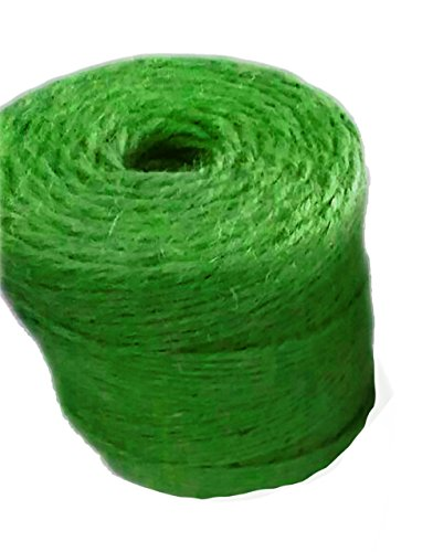 (Jute Garden Twine by AAYU || Green Jute Twine || Heavy Duty Thick Jute Rope || Jute String for Crafts || 3 Ply 200 Feet || Supports Vines, Plants and Vegetables Pottery Product)