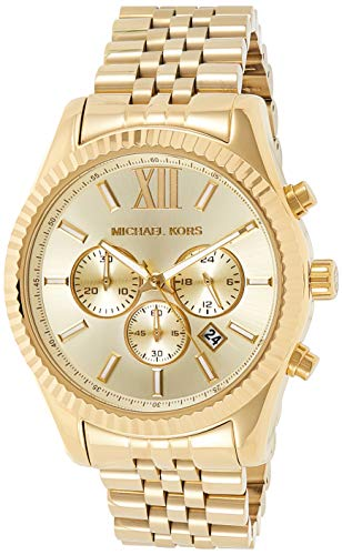 Michael Kors Lexington Gold-Tone Stainless Steel Watch MK8281