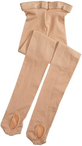 Capezio Tights Nylon (Capezio Big Girls' Ultra Soft Transition Tight, Caramel, One Size (8-12))