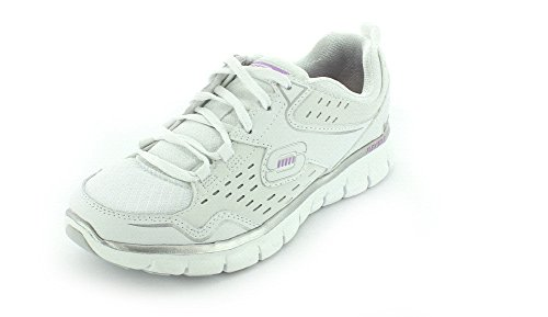 SKECHERS 11792/WSL SYNERGY-A LISTER WHITE/SILVER MEMORY FOAM