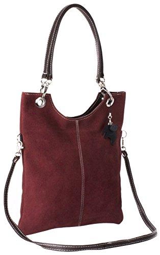 Deep Red Suede Bag - 4