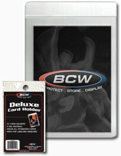 200 BCW Semi-Rigid Deluxe Card Holders Baseball, Basketball, Football, Nascar Cards