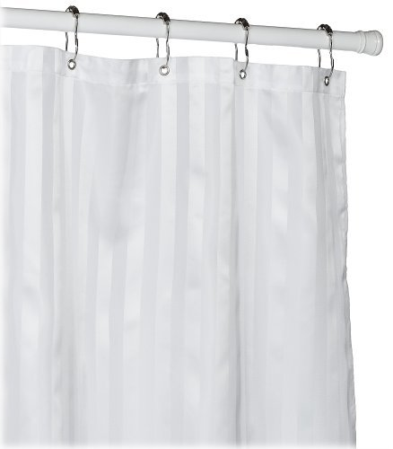 Croscill Fabric Shower Curtain Liner - White, 2 Pack