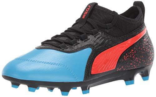 PUMA Unisex ONE 19.3 FG/AG Sneaker bleu Azure-red Blast- Black 3.5 M US Big Kid (Best Street Soccer Shoes)