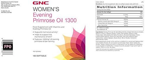 Gnc Aceite de onagra para mujer 1300: Amazon.es: Salud y cuidado personal