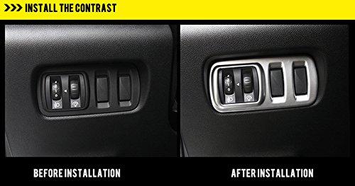 HIGH FLYING per Kadjar 2015 2016 2017 interno maniglia finestra interruttori pulsanti Trim 4 pezzi ABS opaco
