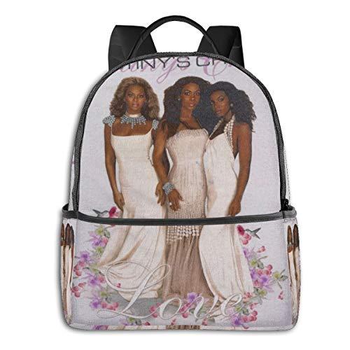 MKevinC Destiny's Child School Backpack Travel, Work, School, Laptop Backpack, Men's and Women's - Black