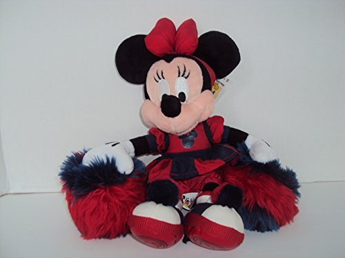 Minnie Mouse Cheerleader Bean Bag Plush Blue and Red With Tags 10