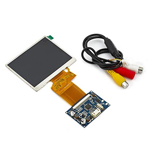 TFT LCD Display RGB LCD Display Module Kit Monitor Screen for Car AV Digital Photo Frame Multi-Function Car-Styling (3.5 inch Screen)