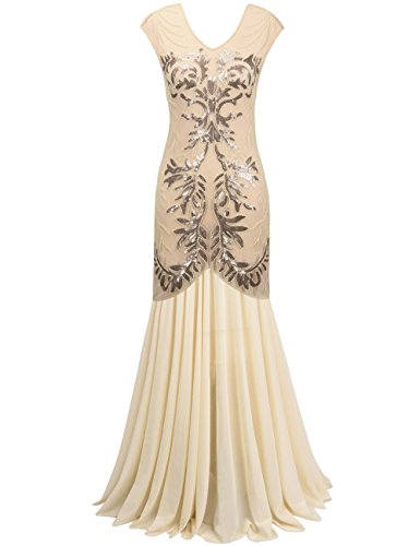 Beaded Cocktail Gown - 4