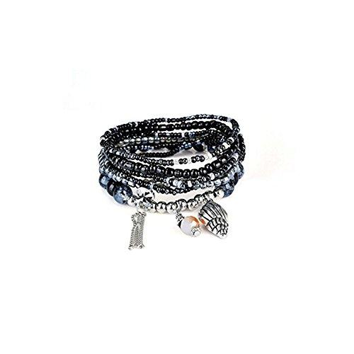 - JSPOYOU Fashion Womens Multicolor Bohemia Multilayer Bracelet Lady Bracelet Bangle (A)