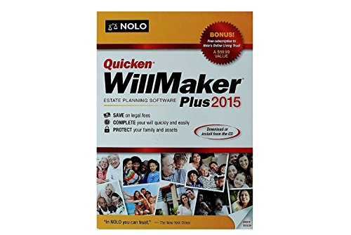 Quicken(R) WillMaker Plus 2015, Traditional Disc