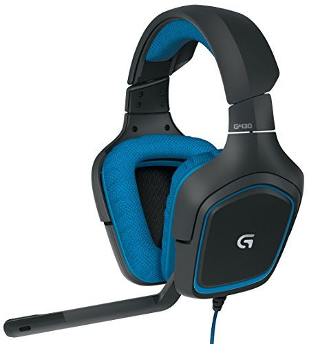 Logitech G430 7.1 DTS Headphone: X and Dolby Surround Sound Gaming Headset for PC, Playstation 4 - On-Cable Controls - Sports-Performance Ear Pads - Rotating Ear Cups - Light Weight Design (Certified