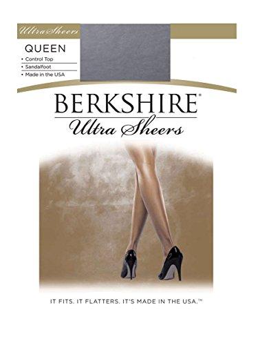 Berkshire Women's Plus-Size Queen Ultra Sheer Control Top Pantyhose, Cadet Blue, 5X-6X