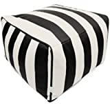 Majestic Home Goods Vertical Stripe Ottoman, Large For Sale