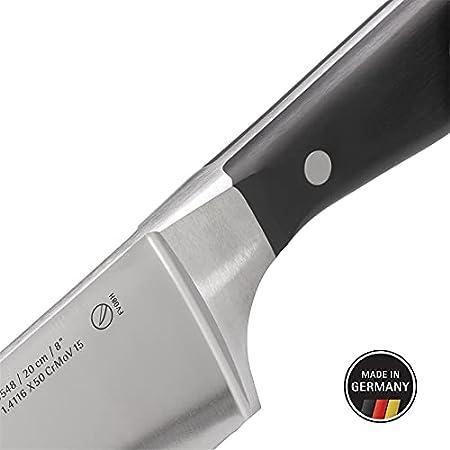 WMF Spitzenklasse Plus - Juego de 3 cuchillos de cocina, 3 cuchillos forjados Performance Cut, cuchillo de cocina, cuchillo de carne, cuchillo de verdura