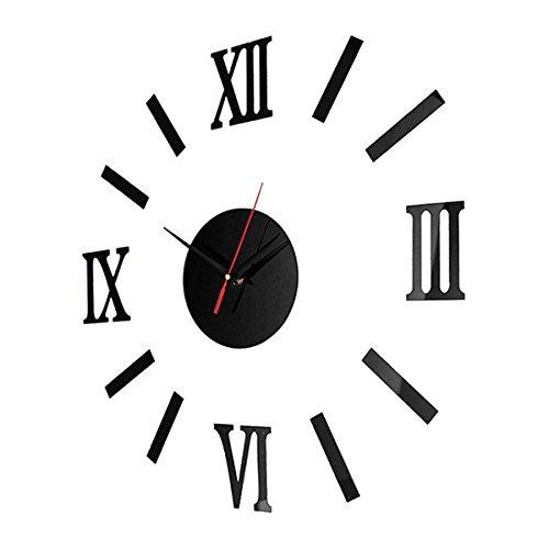 Modern Design DIY 3D Big Wall Stickers Clock Home Decor Quartz Watch Acrylic Mirror Clocks @LS -