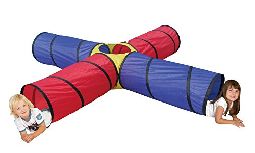 POCO DIVO 4-way Tunnel Pop-up Fun Junction Set 8 Feet Toy Tent Kids Play Tube by POCO DIVO