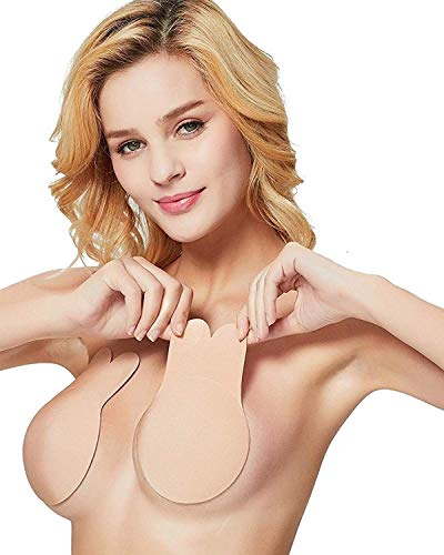 Invisible Breast Lift Push Up Bra Nipple Cover Adhesive Pasties Washable Reusable Strapless