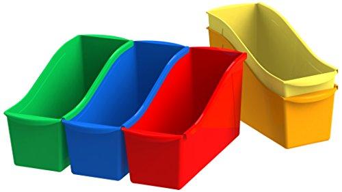 Storex Book Bins, 11-Inch, Assorted Colors, 30 Bins (STX70105U06C)