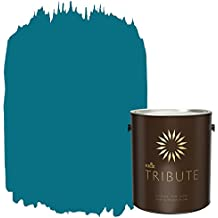 KILZ TRIBUTE Interior Semi-Gloss Paint and Primer in One, 1 Gallon, True Teal (TB-59)