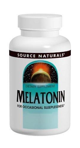 Source Naturals Melatonin,1.0 Milligram, Orange Flavor, 100 Lozenges. Pack of 2 Bottles.